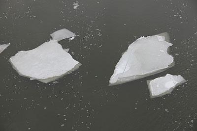 天塩川の解氷始まる