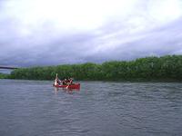 天塩川でカヌー