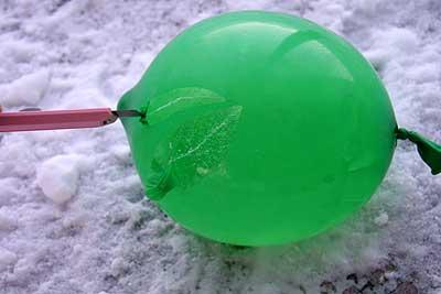 -23℃で水風船は・・・?