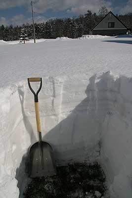 積雪深103cm