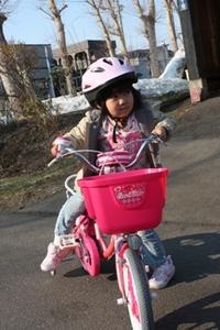 ピカピカ自転車。