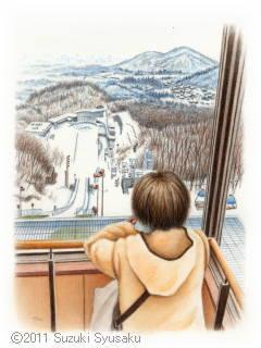 【水彩色鉛筆画】北海道神宮・札幌市電・北浜駅等8点Up