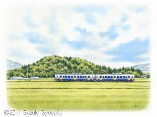 【水彩色鉛筆画】えちぜん鉄道6点Up