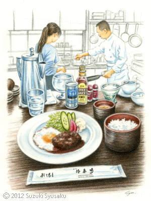 【水彩色鉛筆画】北浜駅、札幌市電(イメージ)2点Up