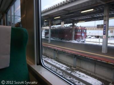 宮の森日記【出張編】●1/11(水)地吹雪のストーブ列車
