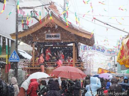 宮の森日記【出張編】●2/24(日)左義長&燈籠祭り