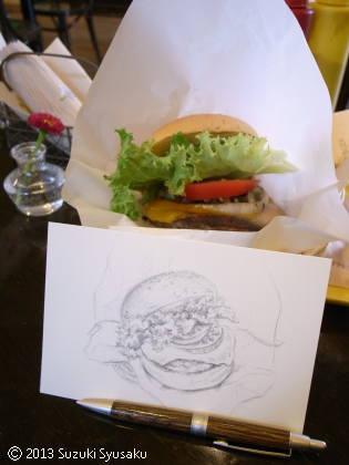 宮の森日記●ハンバーガーの描き方