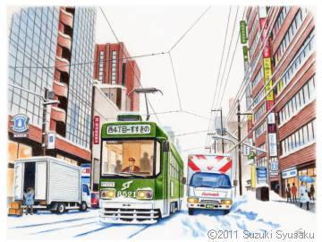 【作品展示】札幌市電「ギャラリー電車」12/19~運行