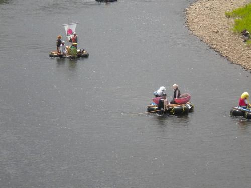 第40回サッポロ豊平川イカダ下りを見てきました