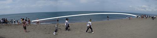 あそびーち石狩(石狩浜海水浴場)の海開き&サンドアート